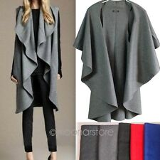 2015 New Women Lady Wool Poncho Winter Loose Trench Coat Jacket Loose Cloak Cape