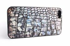 For Apple iPhone 6 6Plus Case Cover Fine Leather Hologram Coating Crocodile