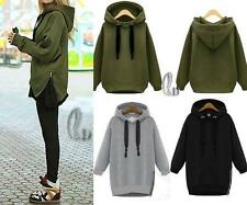 Damen Hoodies Sweatjacke Pullover Jacke Mantel Hoody Sweater Kapuzen Coat Tops