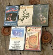 Mixed Lot of 5 Willie Nelson Cassette Tapes, w/ case/cover-