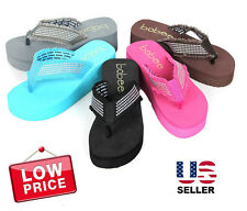 NEW Womens Fashion Wedge Platform Thong Slip On Flip Flops Sandals EVA 2.5 inch