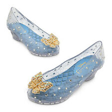 NWT Disney Store Princess Cinderella Costume Shoes Butterly 9/10 11/12 Girls