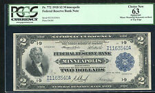 """FR. 772 1918 $2 """"BATTLESHIP"""" FRBN FEDERAL RESERVE BANK NOTE PCGS CHOICE NEW-63"""