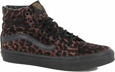 Vans SK8-Hi Slim Womens Trainers Shoes - (Leopard) Black/Black