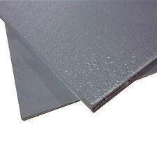 """GREY ABS PLASTIC SHEET 1/8 """".125 """" YOU PICK SIZE ONE SIDE HAIR CELL OTHER SMOOTH"""