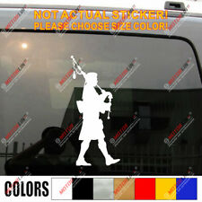 Scottish Bagpiper Bagpipes Car Decal Bumper Sticker