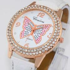 2015 New Numerals Paris Crystal Diamond Dial Leather Band Women Lady Dress Watch