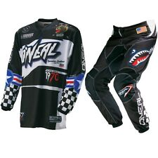 Oneal NEW 2017 Youth Mx Gear Element Afterburner Black Kids Motocross Gear Set