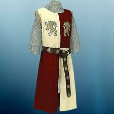 LIONHEART King Richard MEDIEVAL KNIGHT Mens Sleeveless TUNIC SURCOAT S/M L/XL