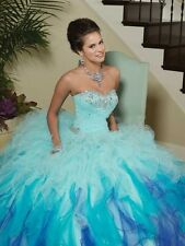 gradient ramp sweetheart ball gown blue pink orange quinceanera dress noble