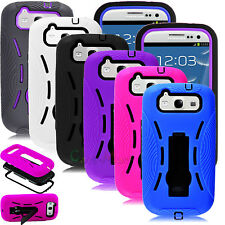 For Samsung Galaxy S3 III i9300 Shockproof Hybrid Rugged Rubber Stand Case Cover