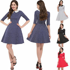 Vintage Style 1950's Rockabilly Pinup Swing Housewife Evening Party Retro Dress