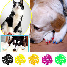 Colorful Soft Nail Caps Claws With Adhesiv 00004000 e Glue Pet 20Pcs Dog Paw