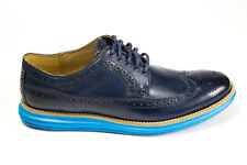 Cole Haan Lunargrand Long Wingtip in Navy C13666 sizes 7-13 Free Shipping