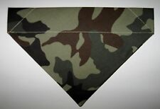 Camouflage Camo Dog Bandana Scarf - Slide over Collar - Size Small to XLarge