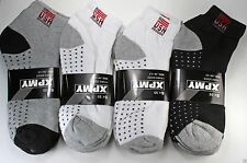 12 Pairs New Mens Ankle/Quarter Crew Socks Cotton low cut 10-13 Sport Black LOT