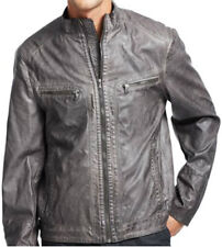 New KENNETH COLE Men's Faux Leather Motorcycle Biker Jacket, nwt, Sizes S - XXL