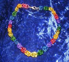 """Sale!! 14-28"""" lengths Chainmail Gay SweetPea chain Rainbow Necklace 16ga"""