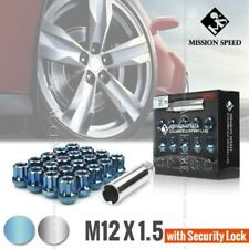 MISSION SPEED SHORT TYPE M12X1.5 SECURITY OPENED END WHEEL NUTS LOCK LUG 2 COLOR