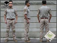 EMERSON Tactical Custom Combat Uniform Shirt & Pants Suit Set Devgru Desert AOR1