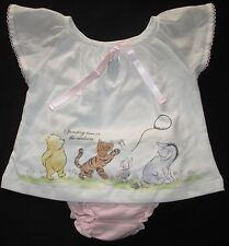 Baby Girls Outfits T Shirt Top Pants 2 Piece Set Winnie Pooh Size 000 00 0 NEW