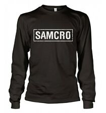 Sons of Anarchy : Logo Samcro Usé - T-Shirt manches longues - NEUF Officiel