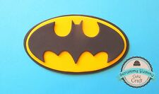 Batman superhero logo cake topper edible sugar decoration birthday II