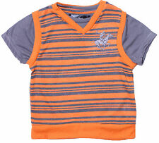 BEVERLY HILLS POLO CLUB Little Boys Striped Heathered Hacci Sweater