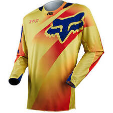 Fox NEW Mx Gear 360 Flight Yellow Blue BMX Motocross Dirt Bike Adult Jersey