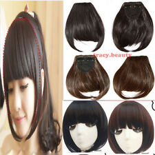 Straight Bang Bangs Clip in Hair Extension Fringe Front On Extensions Hot USA tb