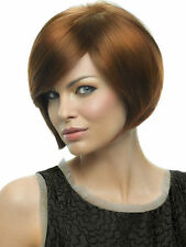 Layered Bob Wig Hairdo (5% Instant Rebate) Side Swept Bangs Short Heat Friendly