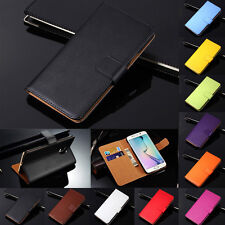 Genuine Leather Flip Wallet Case Cover For Samsung Galaxy S8 S9 S10+ Note 10 9 8