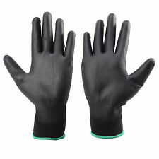 12 Pairs PWS Nylon Nitrile Coated Safety Work Gloves Garden Builders Grip