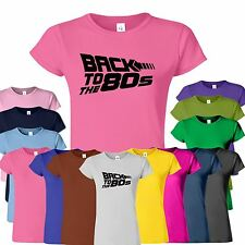 Back To The 80's Ladies TShirt Funny Womans New Look Classic Top Tee T-Shirt