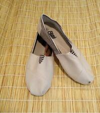 Ladies Beige Casual Canvas Shoes By Strand Imports Women's Flats Cute and Comfy