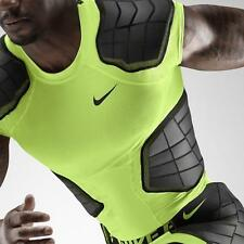NWT Mens Nike Pro Combat Hyperstrong 3.0 Padded Compression Shirt - Volt/Black