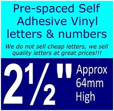 "QTY of: 3 x 2½"" 64mm HIGH STICK-ON SELF ADHESIVE VINYL LETTERS & NUMBERS"