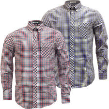 Ben Sherman Gingham Shirt Mens Long Sleeve 'House Check' Smart Casual
