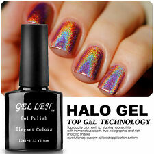 New Arrival ! Halo Gel Polish Soak Off UV Gel Color Glitter Nail Lacquer Tips 20