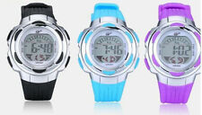 Kids Fashion Digital Watch Rubber Sport Multi-functional Glow Date Time Present