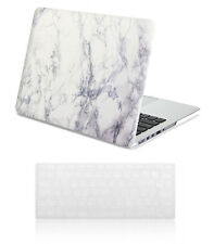 Macbook Air 13 Case - GMYLE Hard Case Print Frosted-White Marble Pattern Cover