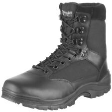 Swat Mens Black Tactical Patrol Combat Police Security Army Leather Boots : 4-13