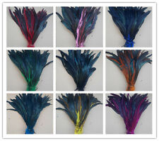 Beautiful! 10/50/100 PCS dyeing rooster tail feathers 12-14 inches/30-35 cm