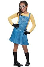 Brand New Female Minion Girl Outfit Child Costume