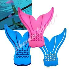 Kids Toddlers Girls Mermaid Monofin Flippers Swimming Toy Mermaid Tails Prop New