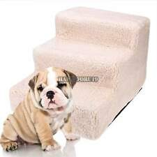Pet Steps Stairs Portable Cat Dog Doggy Ramp Steps Beige White, Beige Yellow