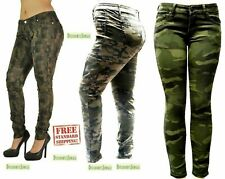 K071 WOMENS PLUS SIZE Stretch JEAN ARMY Camo Camouflage Skinny DENIM JEANS PANTS