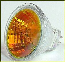 2 Spare 12V 8W MR11 Red Amber Bulbs for Silk Flame Simulated Fire Light/Lamp