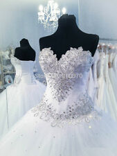 New A-line White/Ivory Bridal gown Wedding Dress Custom 6-8-10-12-14-16-18+++