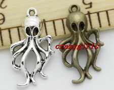 Lot 8/30/150pcs antique silver Lovely Octopus Jewelry  Charms Pendant 30x21mm
